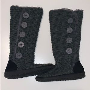 Dark Grey Muk Luks Tall Knitted Boots